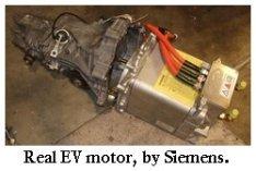 Siemens AC motor for electric car