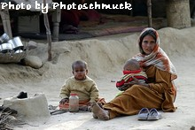 Tonk woman and children