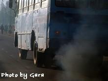 pollution truck