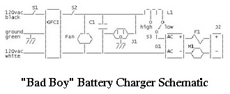 Battery Charger Schematic (Bad Boy)
