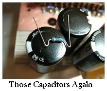 capacitors closeup
