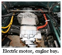 The Ac Electric Car Motor And Voltage