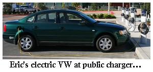 electric passat charging