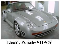 silver electric porsche 911/959