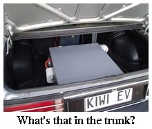 Kiwi EV in the trunk