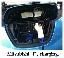 mitsubishi imiev charging