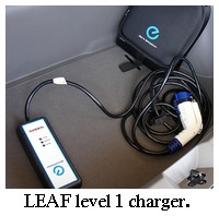 nissan leaf level 1 charger