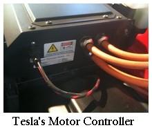 Tesla motor controller rear