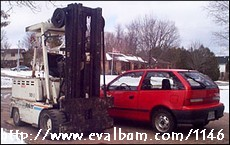EV with used forklift parts