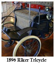 1896 Electric Tricycle