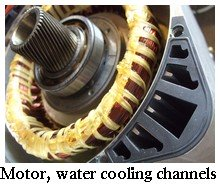 water cooled EV motor