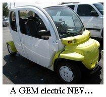 GEM electric car, NEV