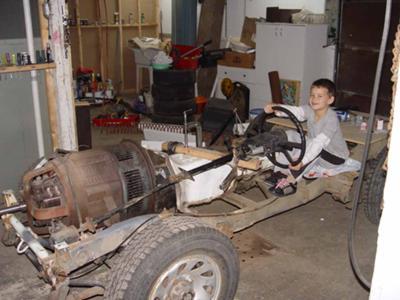 BIG electric car motor, no batteries (unlicensed driver)