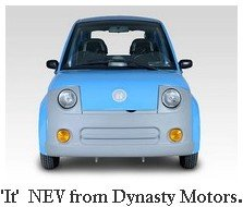 Blue It sedan from Dynasty motors