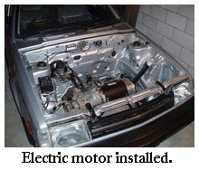 electric motor installed