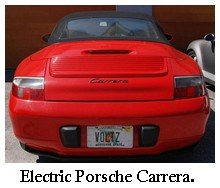 red electric porsche carrera