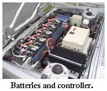 batteries and controller