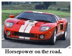 horsepower on the road