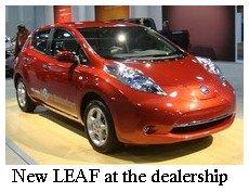 leaf at dealership