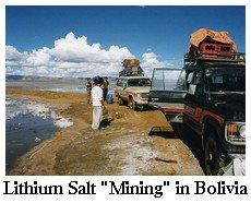 lithium salt mining