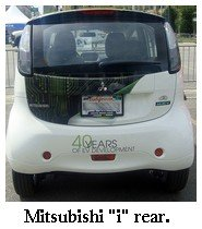 Mitsubishi electric car rear