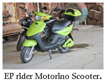 motorino electric scooter