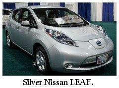 silver nissan leaf