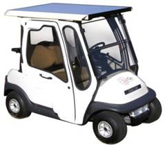 Solar Powered Battery Charger on a Golf Cart!