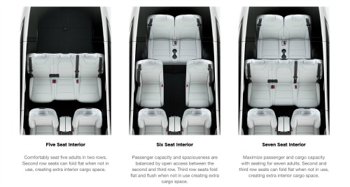 model x seating configuration