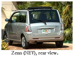 zenn neighborhood electric vehicle rear