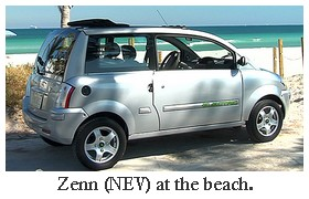 zenn NEV at the beach